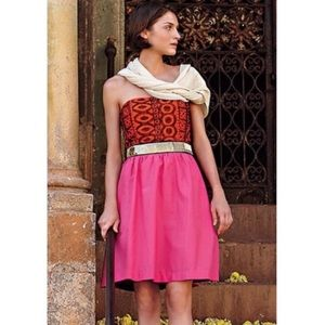 Anthropologie Floreat Subcontinent pink dress
